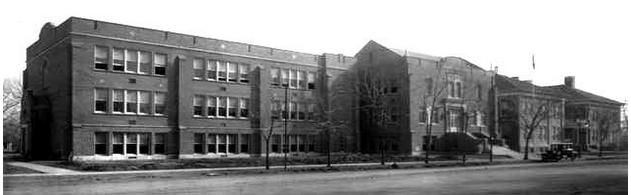 Historic photo of Longmont High School